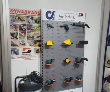 Dynabrade on AerTechnik's booth